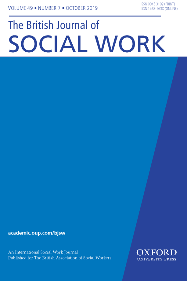 cover image of british journal of social work